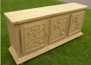 Aérogommage de surfaces en bois
