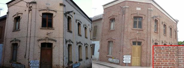 aerogommage pour ravalement  et décapage de façade